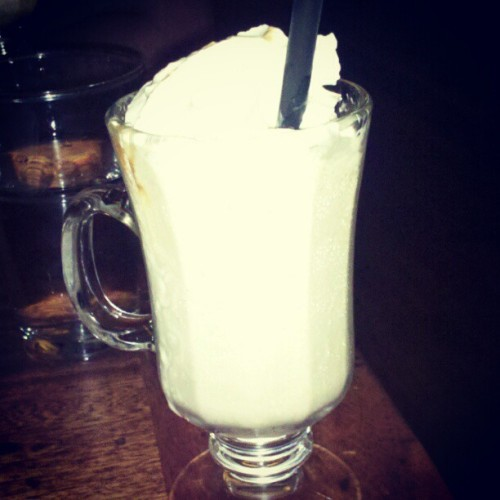 Bananas Foster Adult Milkshake #bananasfoster #milkshake #bananarum (Taken with Instagram)