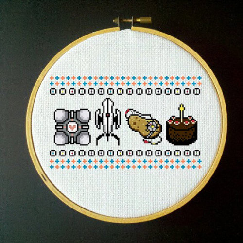 Portal Cross-Stich PDF Pattern I wanna make this :D