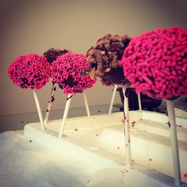 We made cake pops! (Taken with Instagram)
