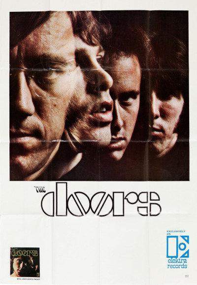 Advertising the release of the Doors' 1967 debut LP on Elektra Records.