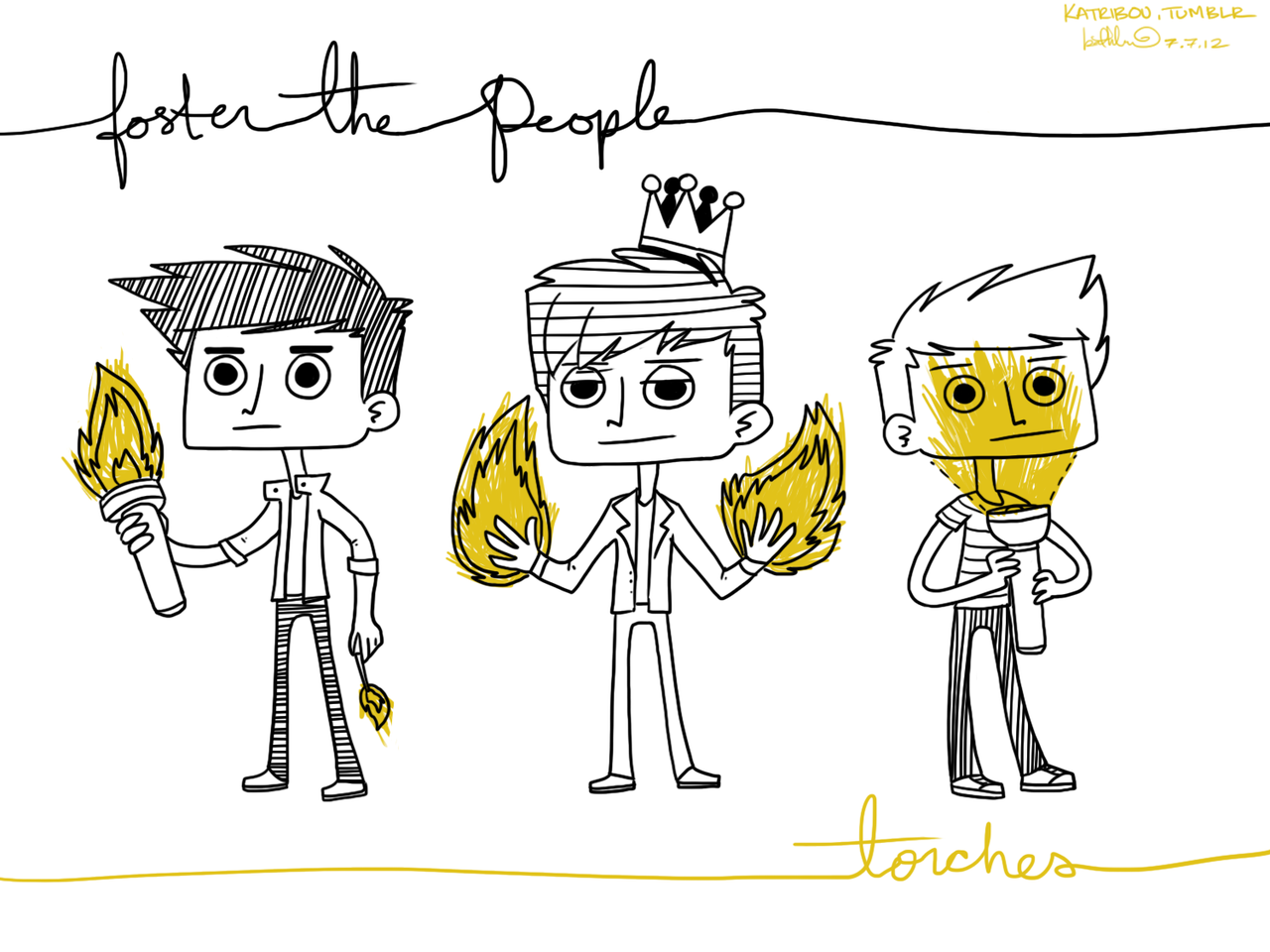 katribou:  Here's to the Foster the People, Torches Era: May 23rd, 2011 - July 7th, 2012