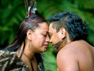 13thmoon:  The Maori greeting and custom of touching foreheads and noses together allowing one to share the same breath is called the Hongi. It is a way of seeing each other on a soul level, seeing each other as equal.
