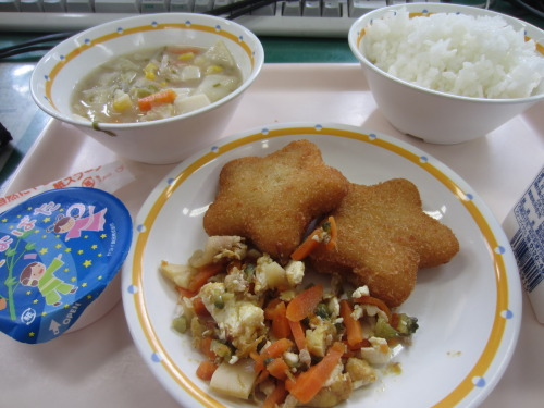 Saturday (7/7) was Tanabata, so on Friday, we had star-shaped croquettes! Yuuuum.