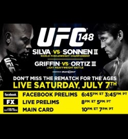 I am watching UFC148: Silva vs. Sonnen II                                                  1220 others are also watching                       UFC148: Silva vs. Sonnen II on GetGlue.com
