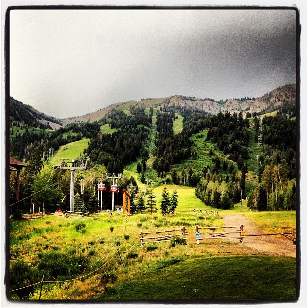 Walk (Taken with Instagram at Jackson Hole Mountain Resort)