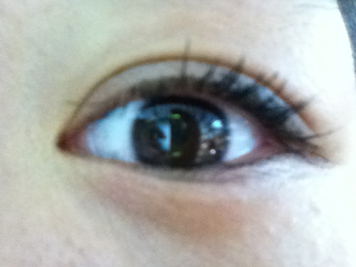 I wish my eyelashes looked better….. Plus my eyeliner wore off….
