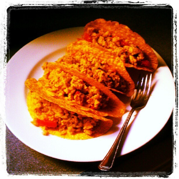 Chili Lime Chicken Tacos. http://instagr.am/p/MzX8kJxCZ1/
