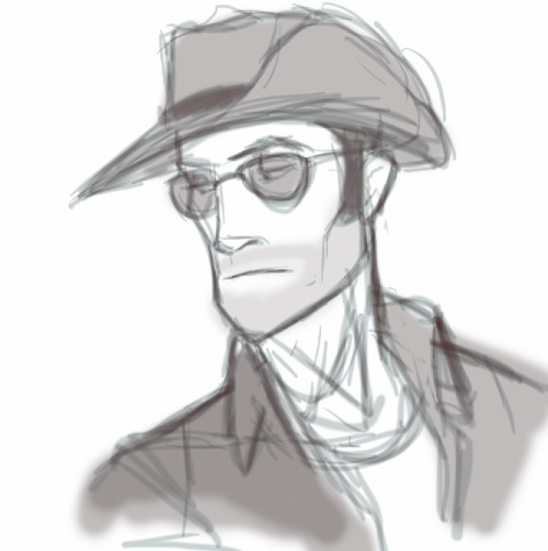 covertoperator:  helloiamfine:  a 5 minute sniper sketch so that I don't have to write off this day as totally unproductive  ;_; *misses his brother*  … :( :|