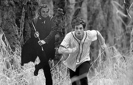 COMIC RELIEF: Run for your life Edward Cullen. Abraham Lincoln the vampire hunter is here.