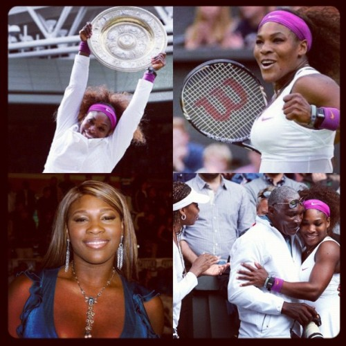 The look of a winner #serena 🎾🎉❤ (Taken with Instagram)