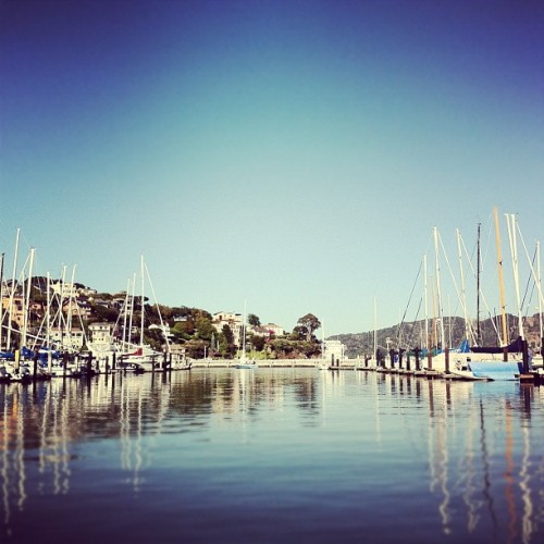 Beautiful day for sailing | #sanfrancisco #yacht #club #water #boats #igers #igers_sf #reflection #harbor  (Taken with Instagram at San Francisco Yacht Club)