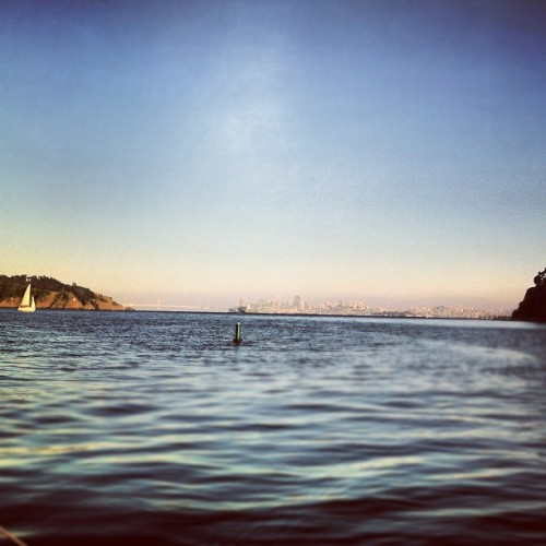 View of Sf from the water | #sanfrancisco #yacht #club #water #boats #igers #igers_sf   (Taken with Instagram at Tiberon)