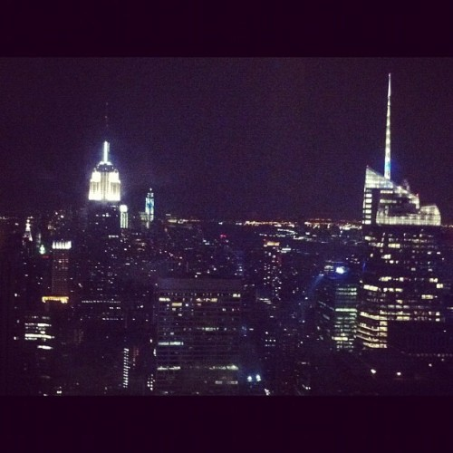 top of the rock, nyc (Taken with Instagram)