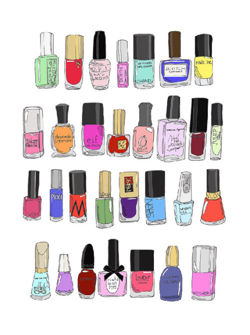 This is me…nail polish collector :3