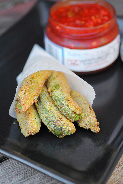 "cupcakes-for-breakfast:  ""What you give away you keep."": Avocado Fries"