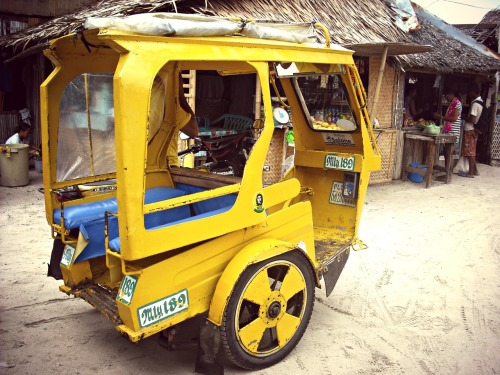 Transportation of choice in Boracay, Philippines.
