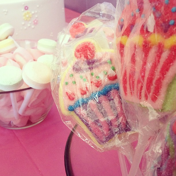 Cupcake cookie and lollipops! We love super sweet treats #saboskirt (Taken with Instagram)