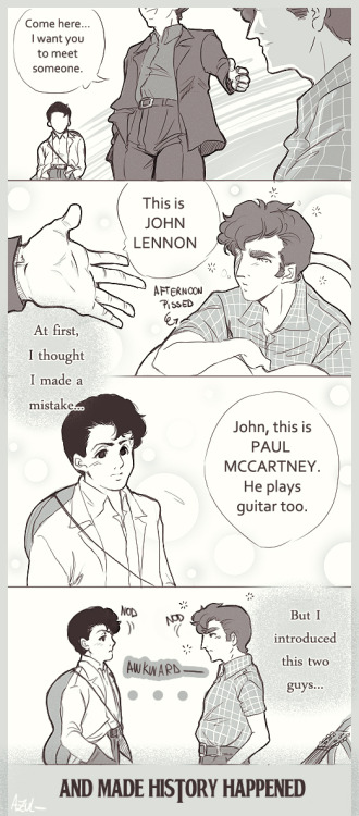 xxohdarling:  John and Paul meet ~ July 1957.