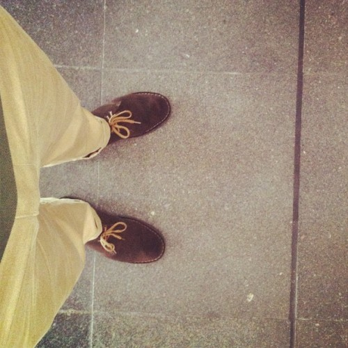 Gd ol' desert boots (Taken with Instagram)