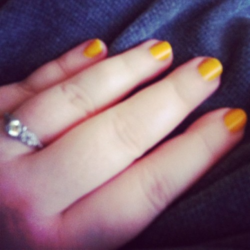 Sunshiny summer nails. (Taken with Instagram)