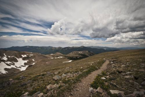 lindsaykunz:  Hiking to Wheeler Peak.  New Mexico.  2012-06