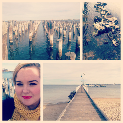 Lovely day with Michael at Port Melbourne. Piers, starfish and fish & chips!