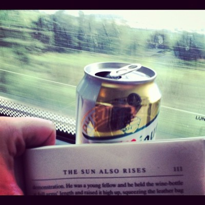 En route to Pamplona with essentials  (Taken with Instagram)