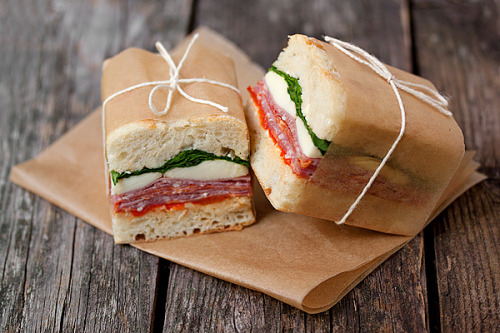 Pressed Italian Sandwiches with recipe (link)