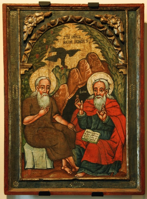 Elijah and Enoch (ancestor of Noah) - an icon 17th cent. (Historic Museum in Sanok, Poland)  http://en.wikipedia.org/wiki/Enoch_(ancestor_of_Noah)