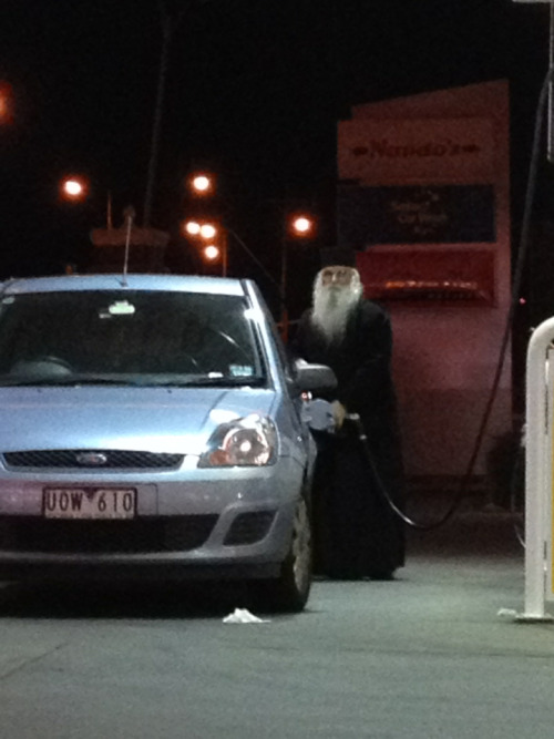 slytherintimelord:  laughcentre:  I was out yesterday and I saw Dumbledore just casually getting gas  EXPECTO PETROLEUM