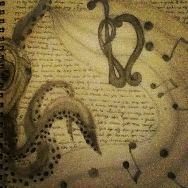 @ofmiceanddrugs #octopus #treble/bass #Ed Sheeran #grade 8 (Taken with Instagram)