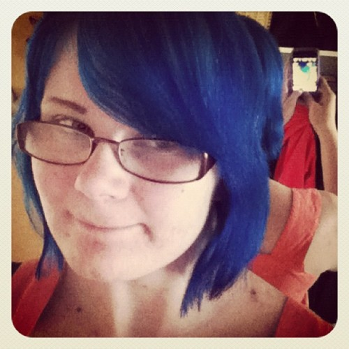 #blue #hair (Taken with Instagram)
