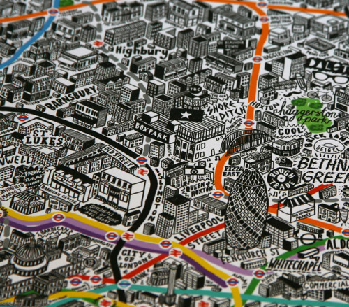 Love this map of London by Jenni Sparks. You can buy a print of the map, and see pictures of it in its entirety here… I'd love to see a Melbourne equivalent…