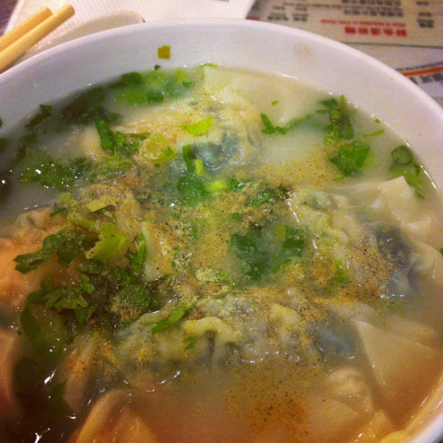 Hongkong food: wanton soup