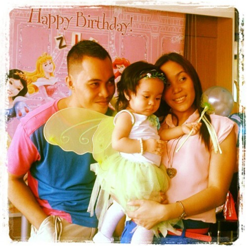 Baby Zia's bday with mom and dad (Taken with Instagram)