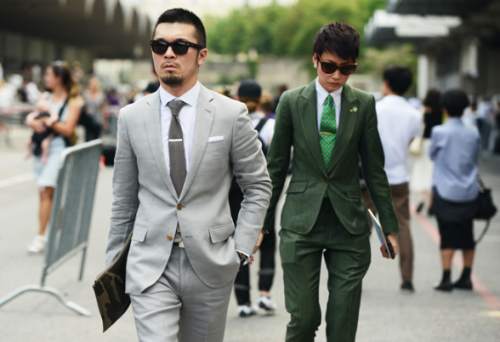 An unfamiliar man and Esther Quek.