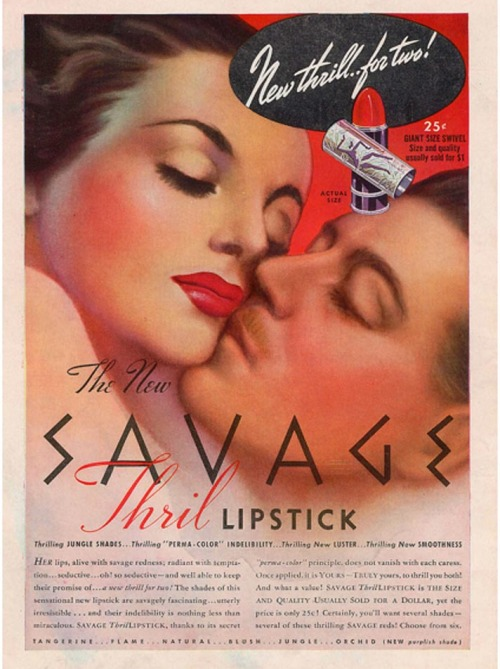 Savage Thril lipstick, 1939
