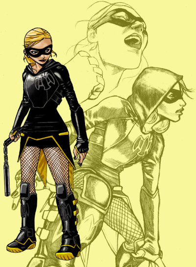 gailsimone:  comicqueens:  — Black Canary redesign, by Mat Major  I like this a lot. Dinah don't need no weapons, though…