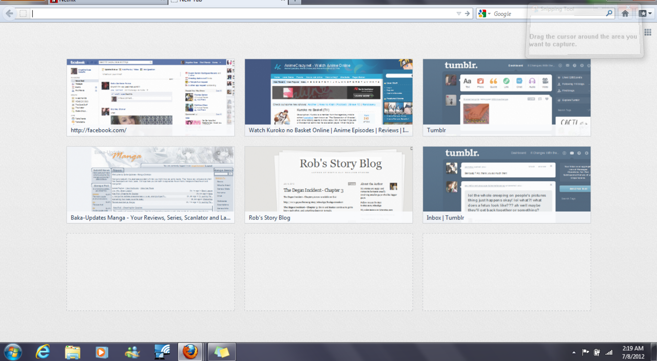 I like this feature on mozilla firefox. whenever I hit new tab there are those boxes of sites i've gone to. IDK how to put them one the empty boxes myself though. and I'm probably too much of a robot to use them. Every time I go to my sites I automatically hit ctrl T and then type in the websites. the little boxes probably aren't very useful to me but I like them…