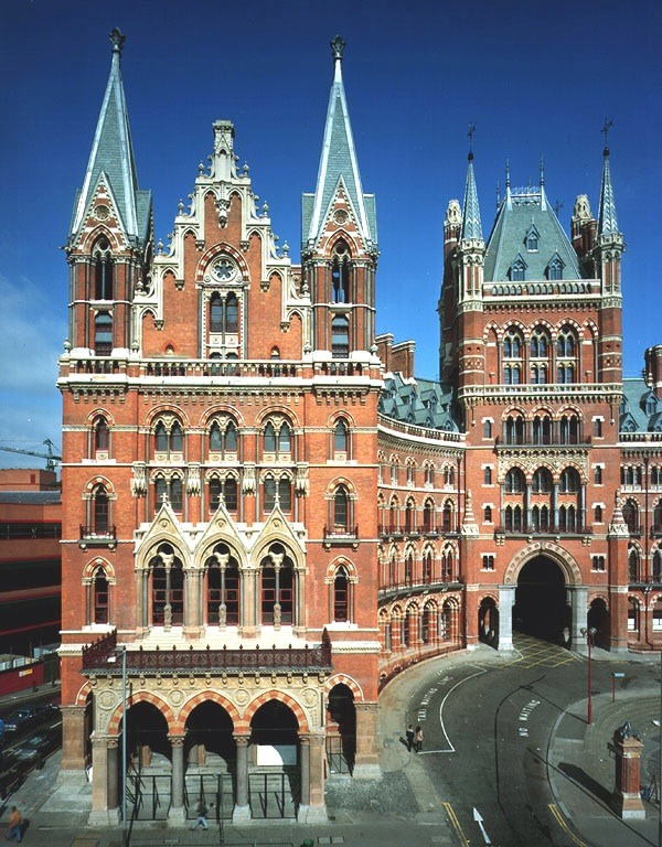 St. Pancras Station, London - now converted to a Renaissance Hotel following a $200 million renovation.