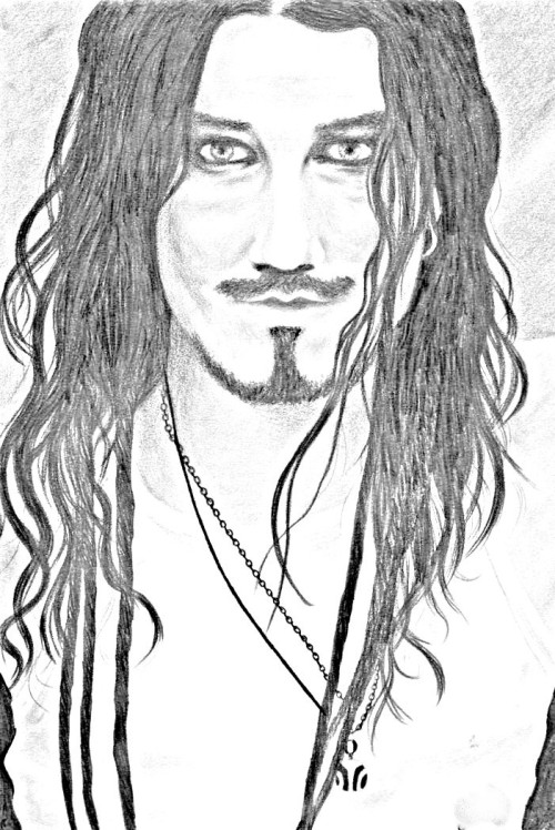Drawing Tuomas Holopainen - Nightwish