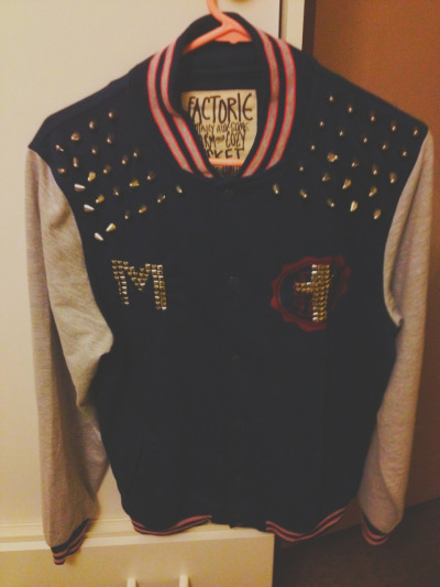 Updated varsity jacket :) I added an 'M'
