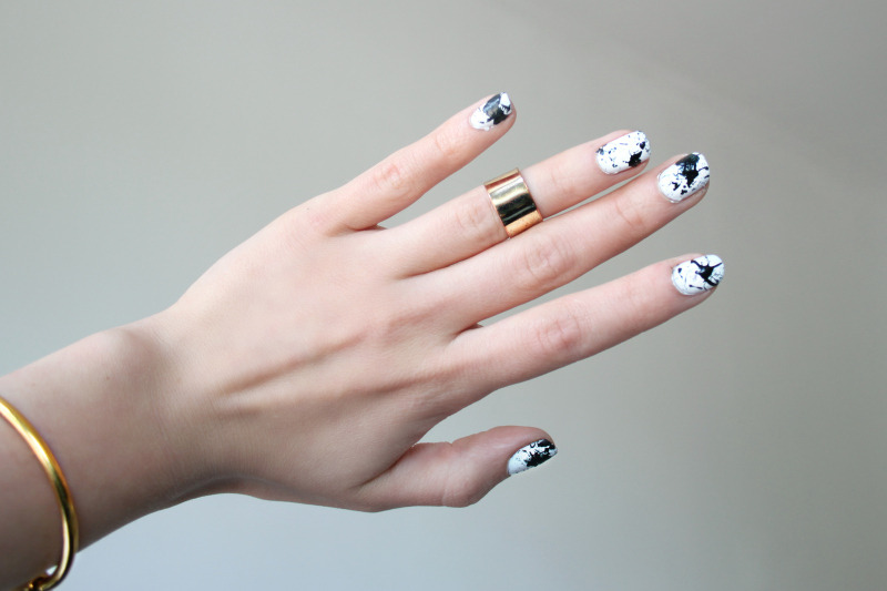 DIY Splatter Nails (image: love-aesthetics)