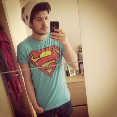 Superman dat hoe #superman #me #jamesy #guy #uk #dc #fashion #face (Taken with Instagram)
