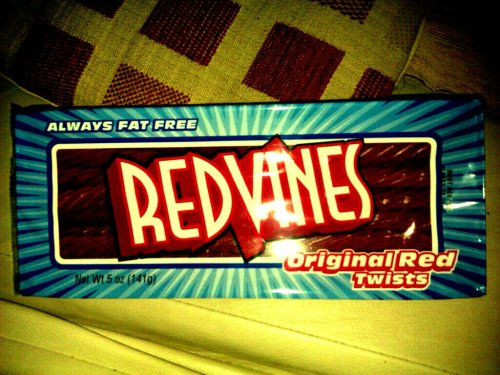 Got some freaking redvines!