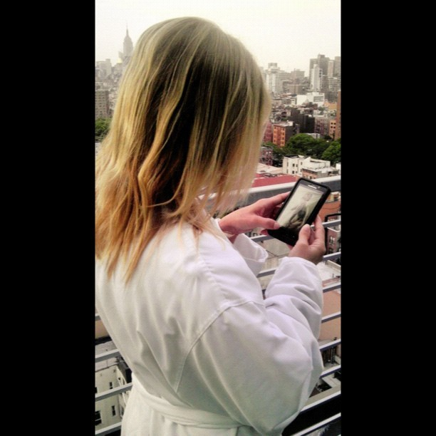 Denise looking @ a photo of herself that I didn't take :\ #morning #balcony #lowereastside #model #bts #kisstagram #picoftheday #jj #instagirl #instababe #instadaily #photooftheday #igdaily #igers #photodama #hotstagram #jj_forum #sexygram #instagramers #igaddict #ignation #instamood #bestoftheday #instago #instahub #instagood #instagramhub #nyc #webstagram #statigram #behindthescenes  (Taken with Instagram)