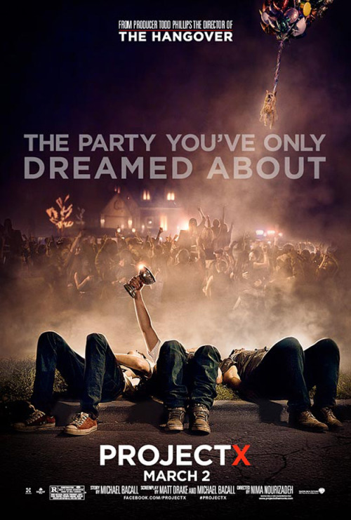 Project X (2012)  Three seemingly anonymous high school seniors attempt to finally make a name for themselves. Their idea is innocent enough - let's throw a party that no one will forget, and have a camera there, to document history in the making. But nothing could prepare them for this party. Word spreads quickly as dreams are ruined, records are blemished and legends are born.  Cast: Thomas Mann, Oliver Cooper, Jonathan Daniel Brown Follow this blog for the neverending list of all the teen movies ever made!