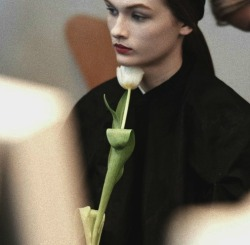 the-front-row:  Lara Mullen backstage at Jil Sander Fall/winter  2012-2013
