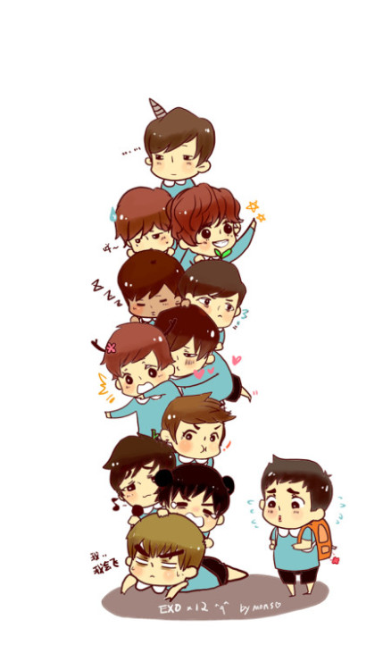 exoetteam12:  EXO Kindergarten!!so cute!!! cr:@MONs_幼儿园欢乐中