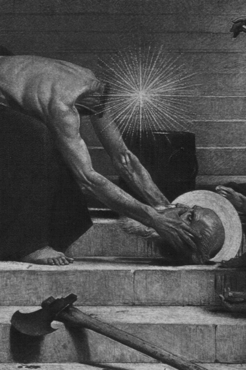 funeral-wreaths:  Leon Bonnat, The Martyrdom of St. Denis (detail)